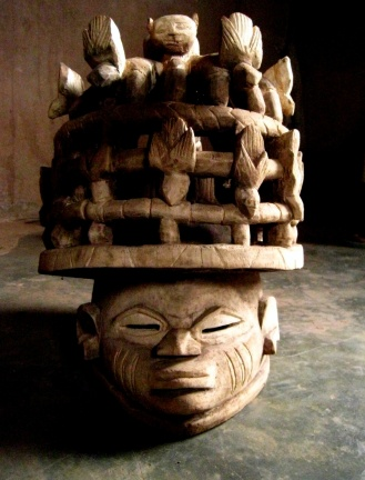 masque de bois, Gélédé. Bénin
