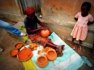 poterie en argile, Bénin